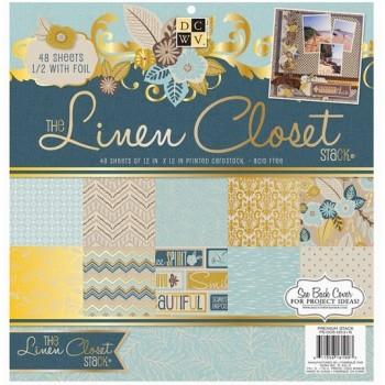 DCWV «The Linen Closet», 24 листа (1/2 набора)