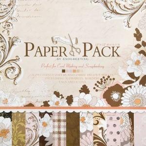 Paper Pack «ELEGENT FLOWERS», 24 листа