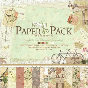 Paper Pack «AFTERNOON», Enogreeting, 24 листа +вырубки