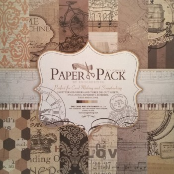 Paper Pack «RETRO STYLE», Enogreeting, 24 листа +вырубки