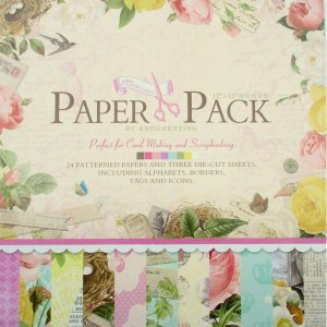 Paper Pack «FLOWERS», Enogreeting, 24 листа +вырубки