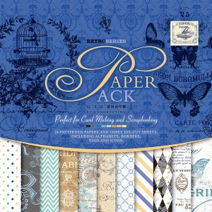 Paper Pack «RETRO SERIES», Enogreeting, 24 листа +вырубки