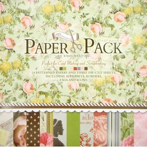 Paper Pack «ROMANTIC», Enogreeting, 24 листа +вырубки