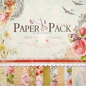 Paper Pack «BLOSSOM», Enogreeting, 24 листа +вырубки
