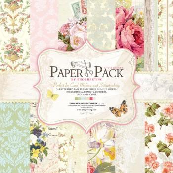 Paper Pack «FLORAL», Enogreeting, 24 листа +вырубки