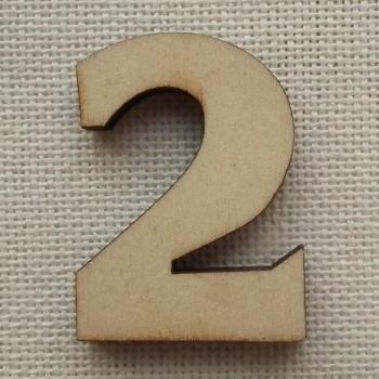 Деревянная цифра «Двойка», декор для творчества
