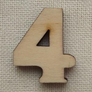 Деревянная цифра «Четверка», декор для творчества