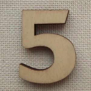 Деревянная цифра «Пятерка», декор для творчества