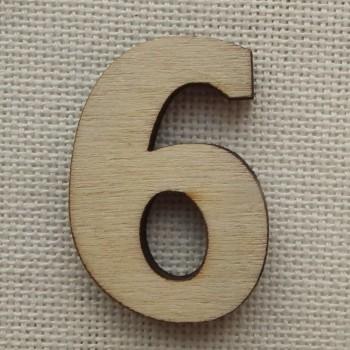 Деревянная цифра «Шестерка и девятка», декор для творчества