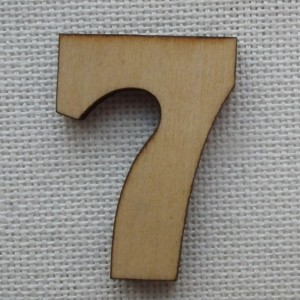 Деревянная цифра «Семерка», декор для творчества