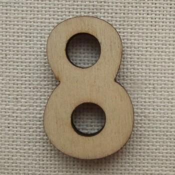 Деревянная цифра «Восьмерка», декор для творчества