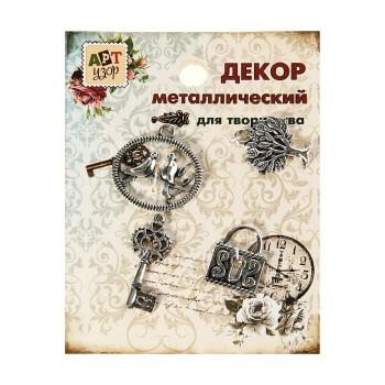 Декор металлический «Приятные мелочи», 4 шт.