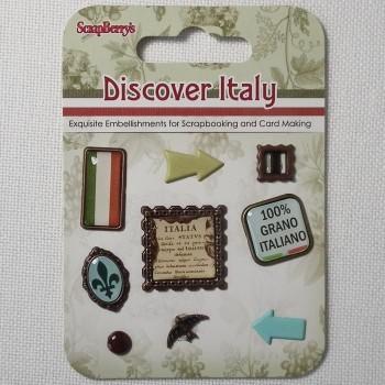 Набор декоративных элементов «Итальянские каникулы» 9 шт.
