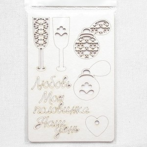 Набор чипборда «Любовь», 10х15 см.