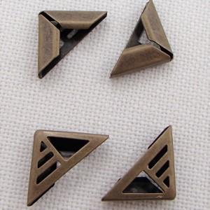 Уголок металлический с вырезами,  цвет «бронза», маленький, 1 шт.
