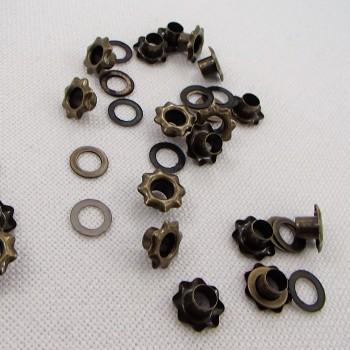 Люверсы «Пивные крышки», 5 мм.,  цвет «бронза», 20 шт.