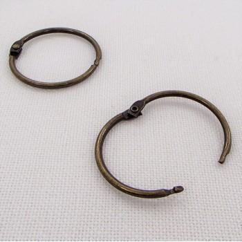 Кольцо разъемное, 35мм ,  цвет «бронза», 1 шт.