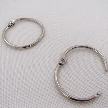 Кольцо разъемное, 35мм ,  цвет «никель», 1 шт.