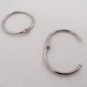 Кольцо разъемное, 30мм ,  цвет «никель», 1 шт.