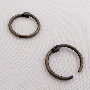 Кольцо разъемное, 23мм ,  цвет «бронза», 1 шт.