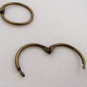 Кольцо разъемное, 30мм ,  цвет «светлая бронза», 1 шт.