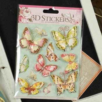 Набор 3d-стикеров для скрапбукинга «Бабочки»