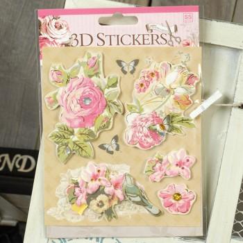 Набор 3d-стикеров для скрапбукинга «Цветы»