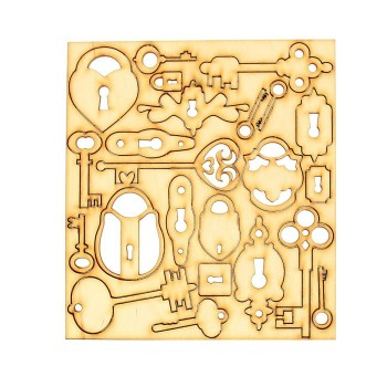 Набор для скрапбукинга «Замки, ключи», фанера, 3 мм.