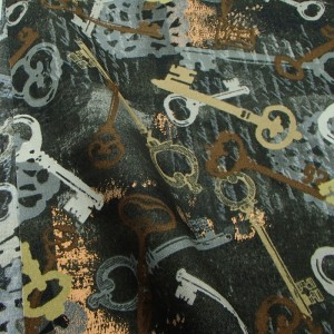 Ткань 100% хлопок, «Ключи», отрез 50х55 см.