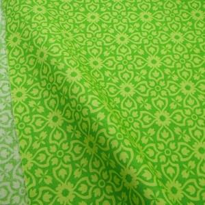 Ткань 100% хлопок, «Желто-зеленый орнамент», отрез 50х55 см.