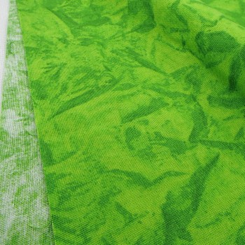 Ткань 100% хлопок, «Батик. Зеленый», отрез 50х55 см.