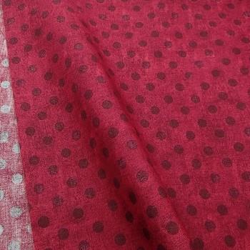 Ткань 100% хлопок, «Горошек Santoro», отрез 50х55 см.