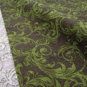 Ткань 100% хлопок, «Зеленые узоры», отрез 50х55 см.