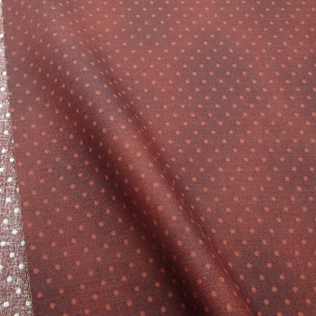 Ткань 100% хлопок, «Горошек на коричневом», отрез 50х55 см.
