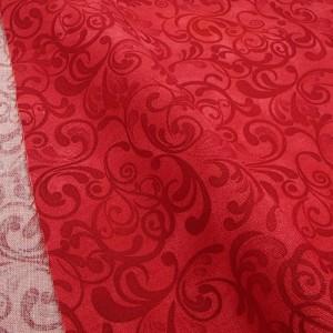 Ткань 100% хлопок, «Завитушки. Красный», отрез 50х55 см.