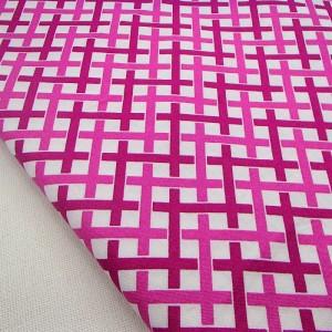 Ткань 100% хлопок, «Бело-розовая плетенка», отрез 50х75 см.