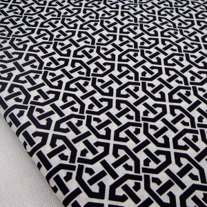 Ткань 100% хлопок, «Черно-белый орнамент», отрез 50х75 см.