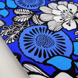 Ткань 100% хлопок, «Бело-синие цветы», отрез 50х75 см.