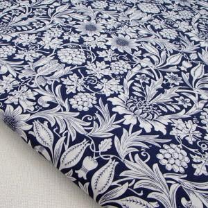 Ткань для рукоделия «Монохромные узоры. Синий», отрез 50х70 см.