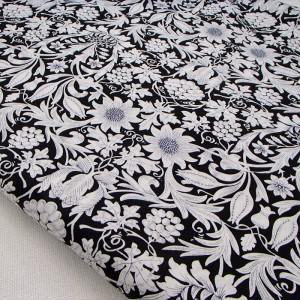 Ткань для рукоделия «Монохромные узоры. Черный», отрез 50х70 см.