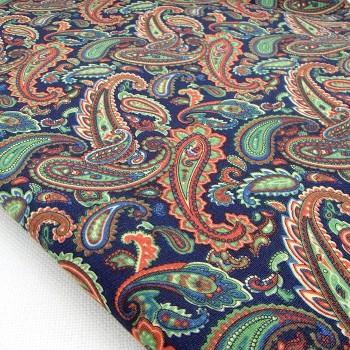 Ткань для рукоделия «Пейсли зеленый», отрез 50х70 см.