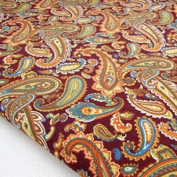 Ткань для рукоделия «Пейсли коричневый», отрез 50х70 см.