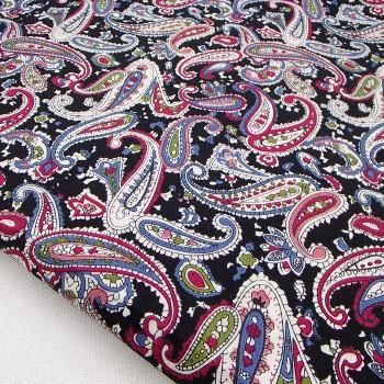 Ткань для рукоделия «Пейсли черный», отрез 50х70 см.
