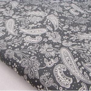 Ткань для рукоделия «Монохромный пейсли», отрез 50х70 см.