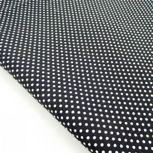 Ткань для рукоделия «Горошек. Черный», отрез 50х70 см.