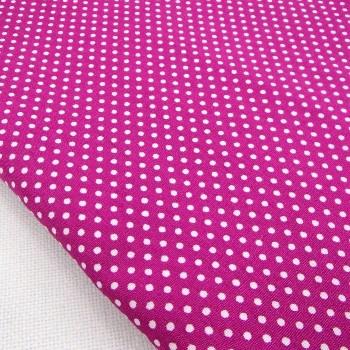 Ткань для рукоделия «Горошек. Фуксия», отрез 50х70 см.