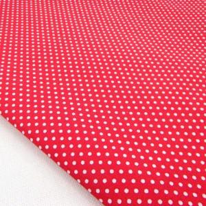 Ткань для рукоделия «Горошек. Красный», отрез 50х70 см.