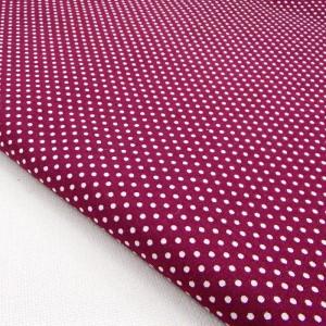 Ткань для рукоделия «Горошек. Бордовый», отрез 50х70 см.
