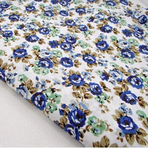 Ткань для рукоделия «Пасторальные цветы. Белый»,  отрез 50х70 см.