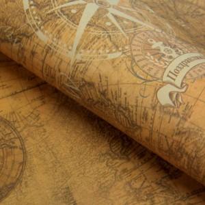 Крафт-бумага для творчества «Карта», А4, 160 гр./кв.м